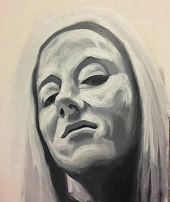 Painting - Smug Blonde by Seamas Culligan