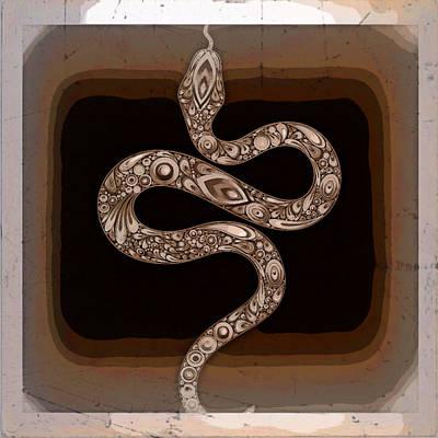 Digital Art - Snake by 'REA' Gallery