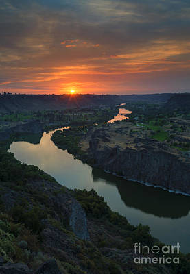 Fall Photograph - Snake River Sunset by Mike Dawson