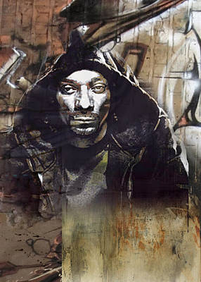 San Diego Artist Mixed Media - Snoop Graffitti  30 by Jani Heinonen