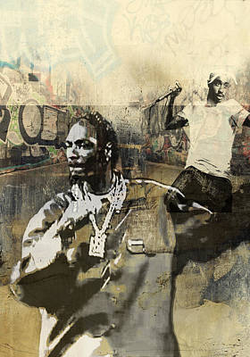 San Diego Artist Mixed Media - Snoop Graffitti  38 by Jani Heinonen