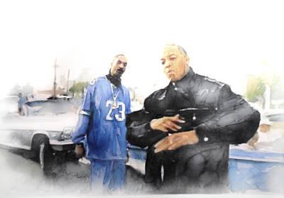 Jay Z Drawing - Snoop by Jani Heinonen