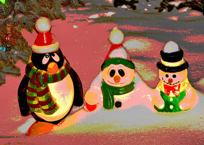 Snow Buddies Art Print by Robert Joseph