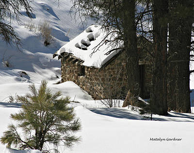 Photograph - Snow Cabin by Matalyn Gardner