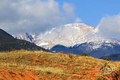 Steve Krull Royalty-Free and Rights-Managed Images - Snow Capped Pikes Peak Colorado by Steve Krull