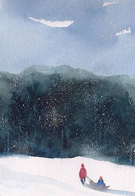 Wall Art - Painting - Snow Day  by Debra LePage