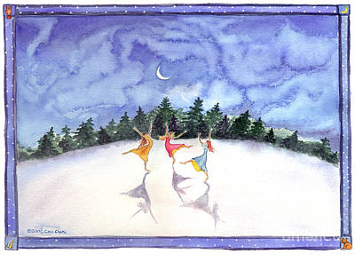 Painting - Snow Play by Cori Caputo
