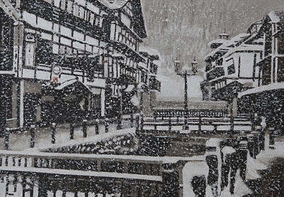 Painting - Snow Town by Masami Iida