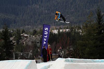 Snowboarder At The Telus Snowboard Festival Whistler 2010 Art Print
