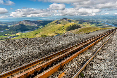 Pinion Photograph - Snowdon Mountain Railway by Adrian Evans