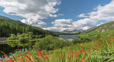 Bank Clouds Hills Photograph - Snowdonia Lake by Adrian Evans