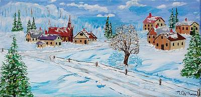 Painting - Winter Hamlet by Mike Caitham
