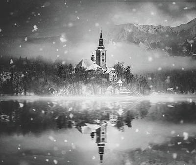 Photograph - Snowing Over Lake Bled by Unsplash