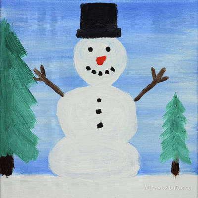 Snowman Art Print by Anthony LaRocca