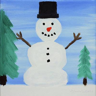 Snowman Art Print