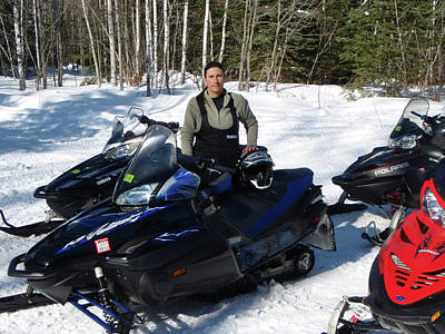Photograph - Snowmobiling by Brook Burling