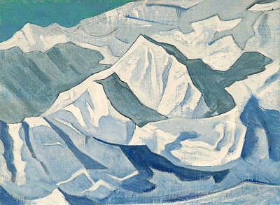 Snow Painting - Snowy Ascent by Nicholas Roerich