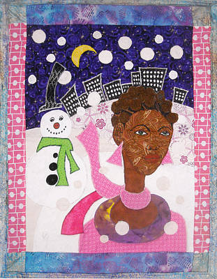 Tapestry - Textile - Snowy Bantu by Unicia Buster
