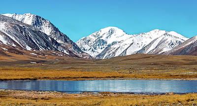 Decor Photograph - Snowy Mountains Reflected In Lake by Oksana Ariskina
