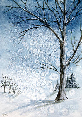 Snowy Night Original by Rebecca Davis
