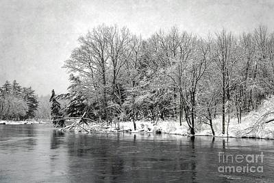 Photograph - Snowing River by Karin Pinkham