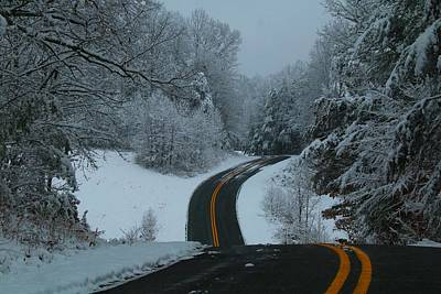 Photograph - Snowy Road by Kathryn Meyer