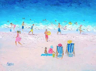Summer Scene Painting - Soaking Up The Sun by Jan Matson