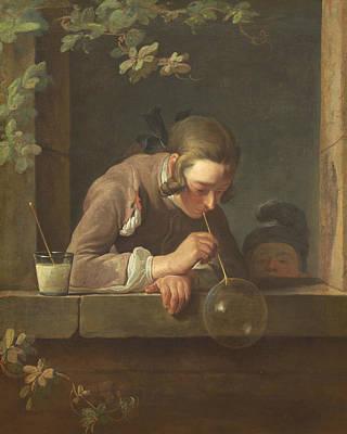 Simeon Painting - Soap Bubbles by Jean-Baptiste-Simeon Chardin