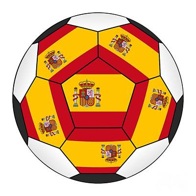 Photograph - Soccer Ball With Spanish Flag by Michal Boubin