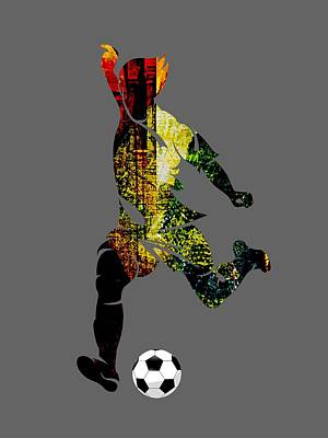 Soccer Collection Art Print by Marvin Blaine
