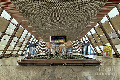 Socialistic Train Station Art Print by Christian Hallweger
