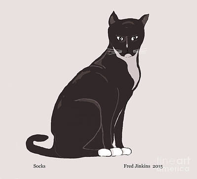 Socks The Cat Original by Fred Jinkins