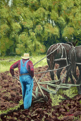 Sod Buster Art Print by Carl Capps