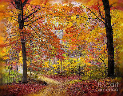 Soft Autumn Rain Art Print