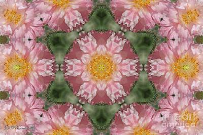 Digital Art - Soft Pink And White Angel's Choir Mandala by J McCombie