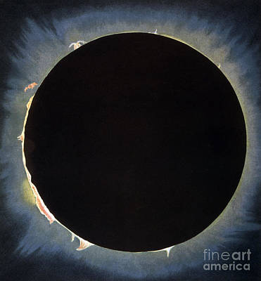 Drawing - Solar Eclipse, 1860.  by Granger