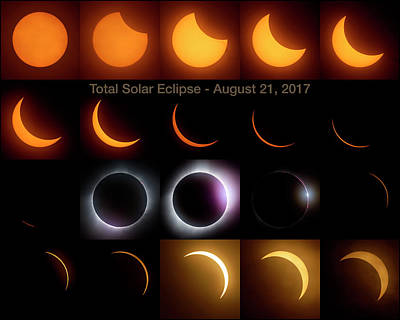 Photograph - Solar Eclipse - August 21 2017 by Art Whitton