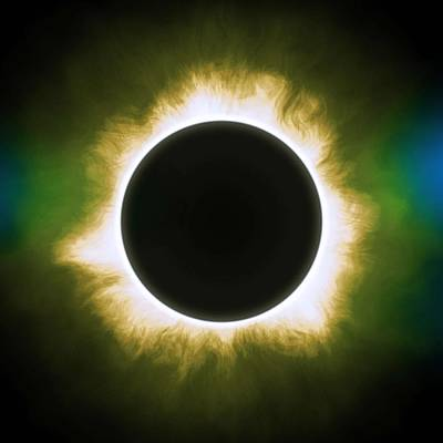 Astronomy Painting - Solar Eclipse In Infrared by Celestial Images