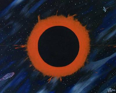 Solar Eclipse Painting - Solar Eclipse by Paul F Labarbera