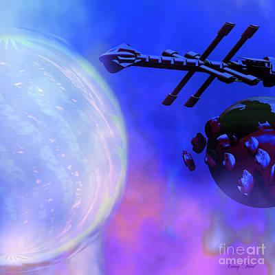 Jet Star Digital Art - Solar Nexus by Corey Ford