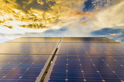 Royalty Free Images Photograph - Solar Panels Photovoltaic Array by Michael DeYoung