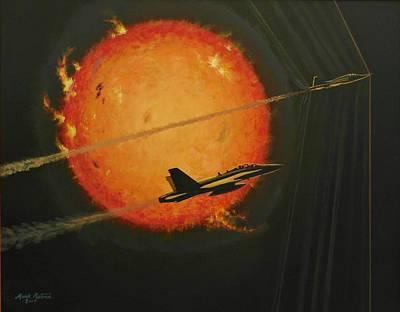 F-18 Painting - Solar Sonic by Mark Pestana