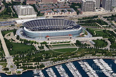 Photograph - Soldier Field by Bill Lang