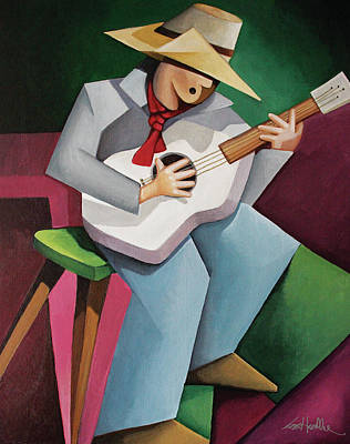 Painting - Solo Singer by Lance Headlee