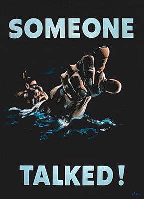 Someone Talked Art Print
