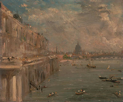 Painting - Somerset House Terrace From Waterloo Bridge by John Constable