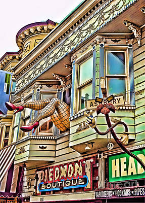 Digital Art - Something To Find Only The In The Haight Ashbury by Jim Fitzpatrick