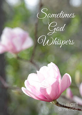 Valentine Gift Ideas Photograph - Sometimes God Whispers by Carol Groenen