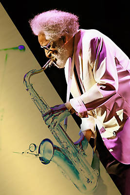 Saxophone Mixed Media - Sonny Rollins Collection by Marvin Blaine