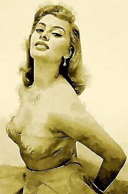 Sophia Loren By John Springfield Art Print by John Springfield